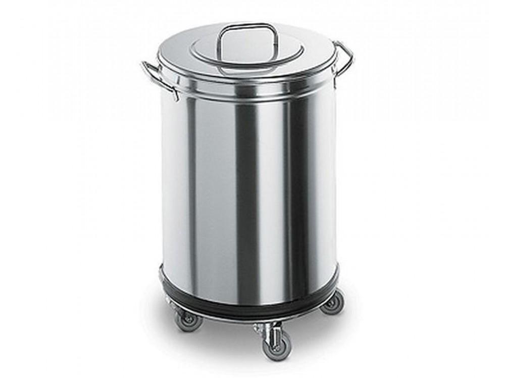 Bidone immondizia da 90 litri in acciaio inox Aisi 304