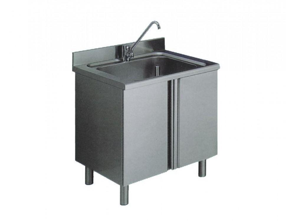 Lavello una vasca in acciaio inox Aisi 304