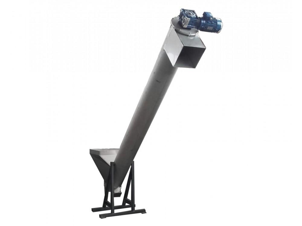 Impianto di trasporto con coclea in acciaio inox
