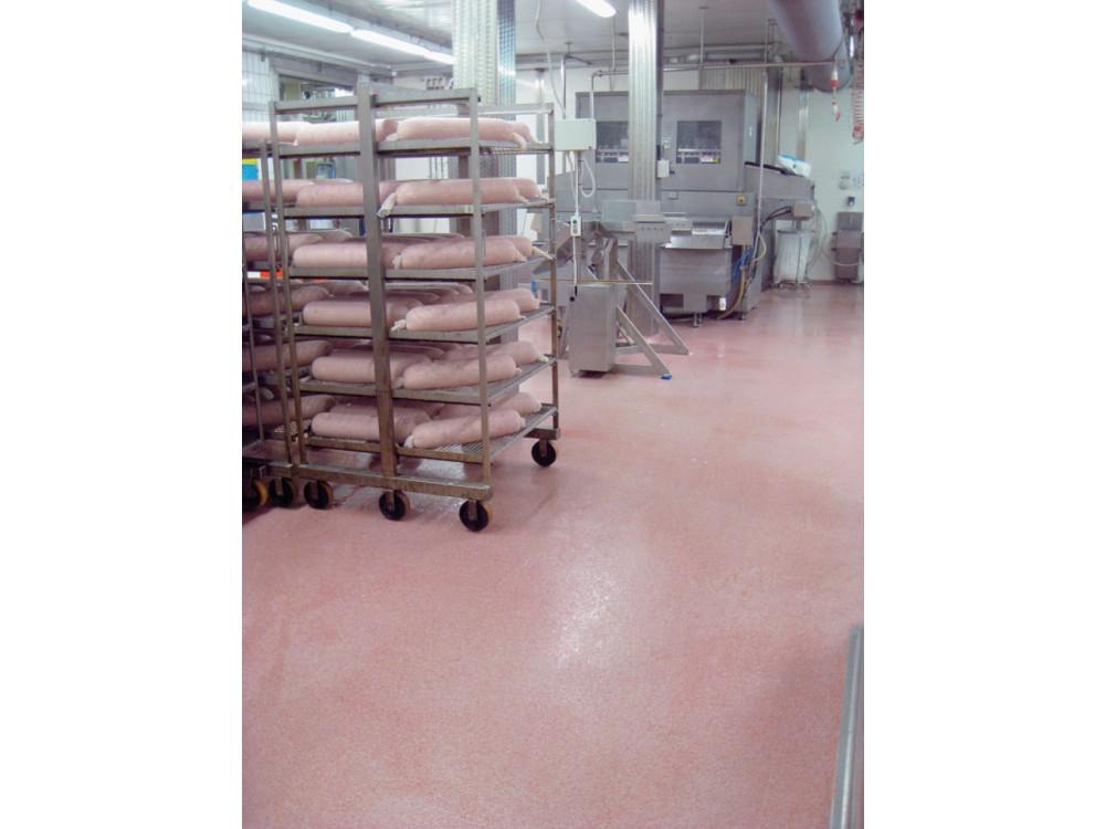 Pavimentazione in resina per industrie alimentari