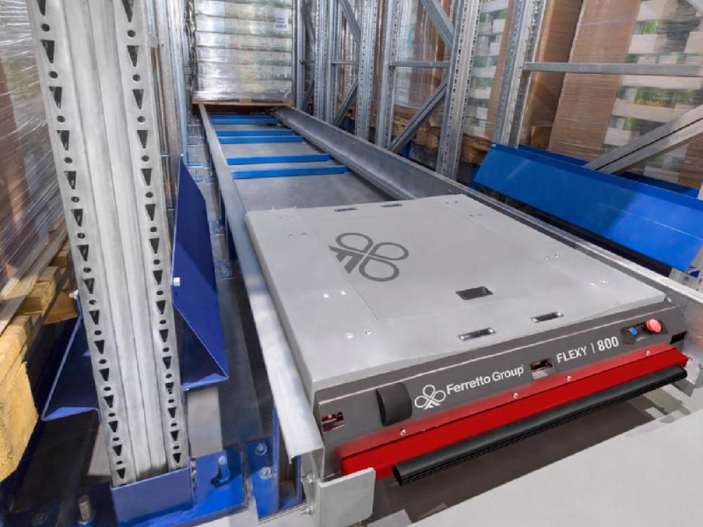 Shuttle Flexy per magazzino multiprofondità drive-in