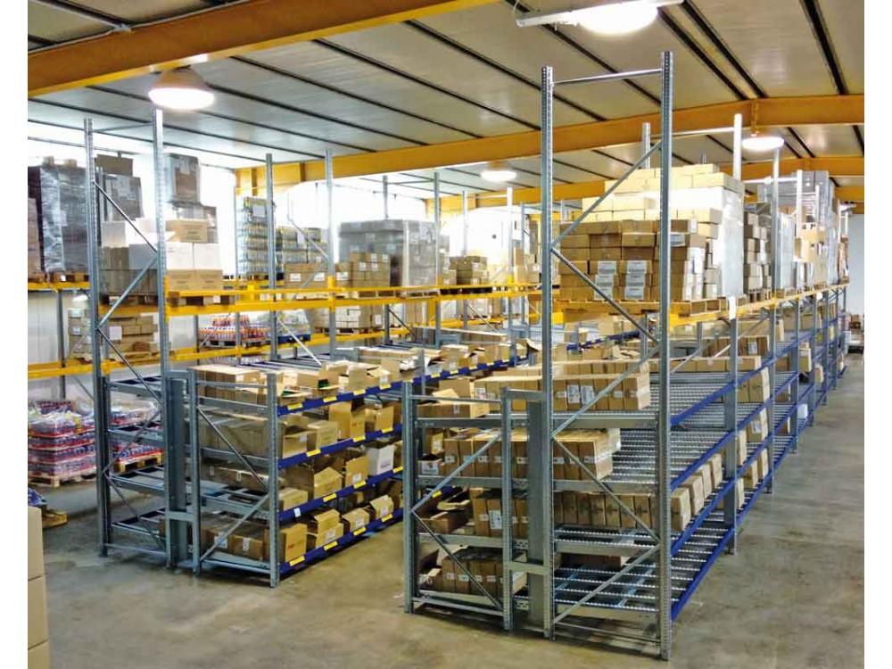 Scaffalatura a gravità leggera per magazzino dinamico