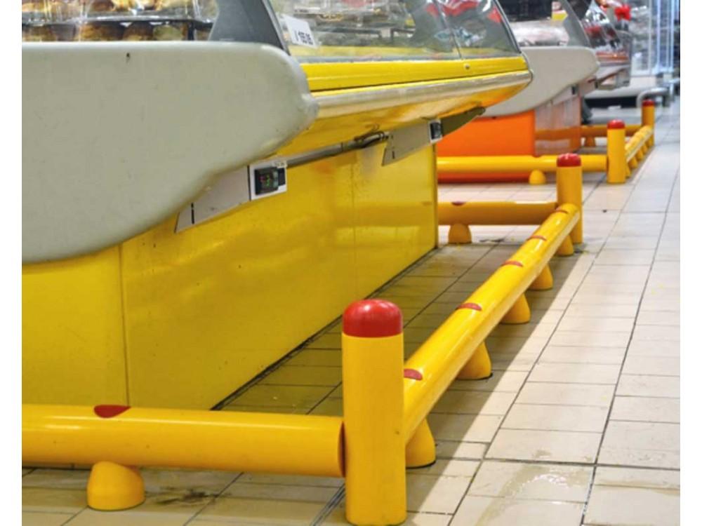 Guardrail di protezione da fissare a pavimento