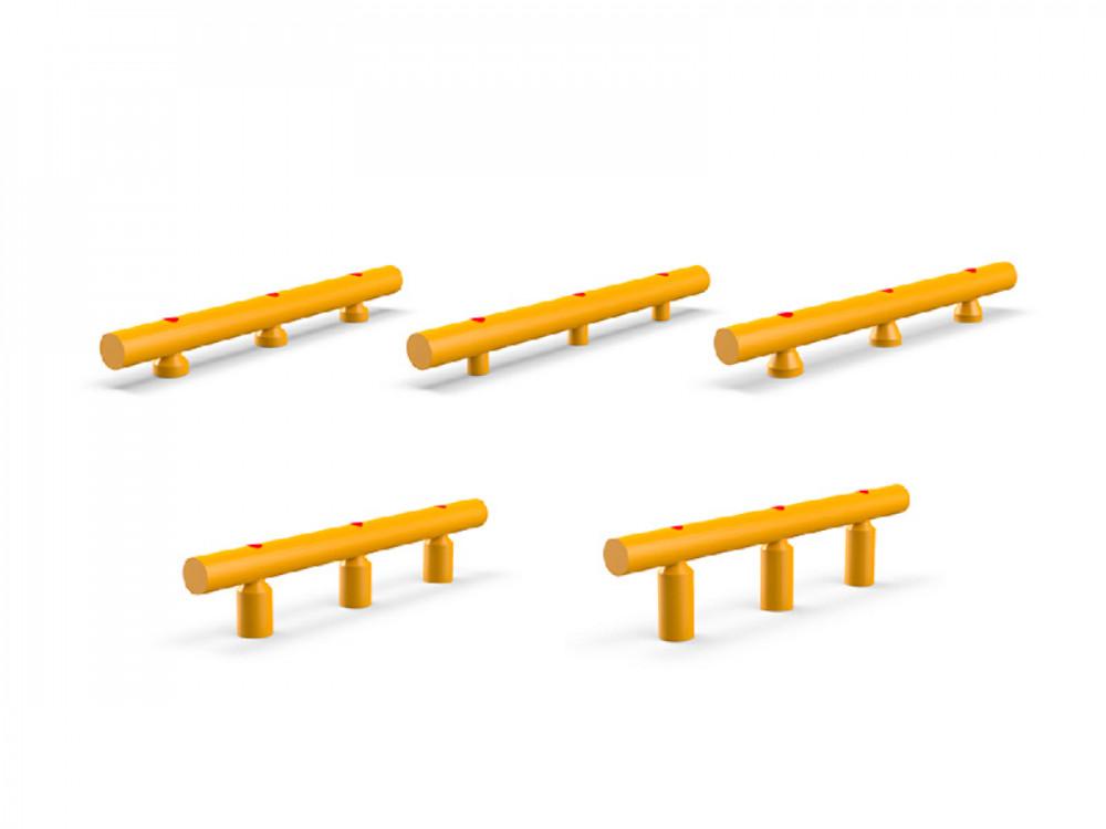 Guardrail antiurto monofilare con deformazione elastica progressiva