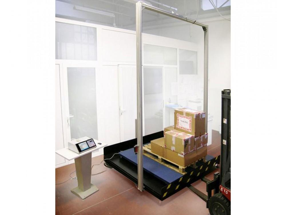 Stazione statica di rilevazione peso/volume per bancali
