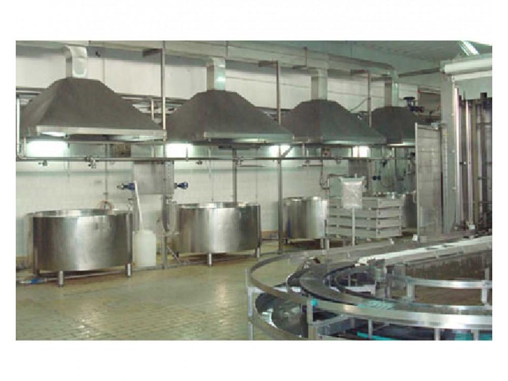 Progettazione e realizzazione impianti per aziende lattiero casearie