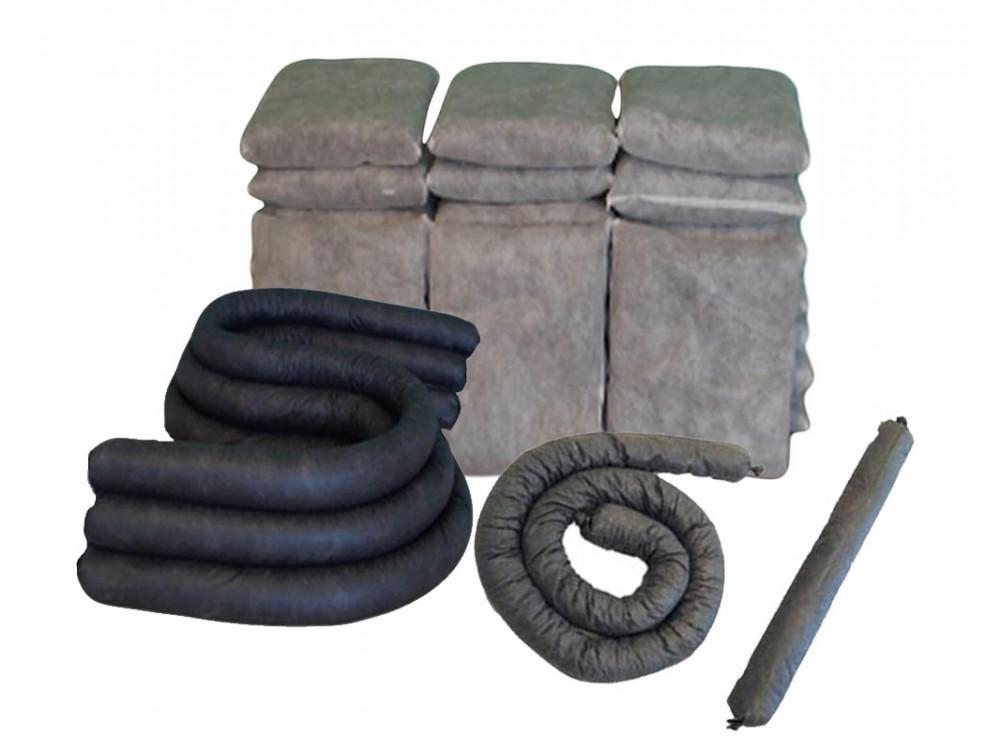 Cuscini e manicotti assorbenti per inquinanti industriali oli e solventi