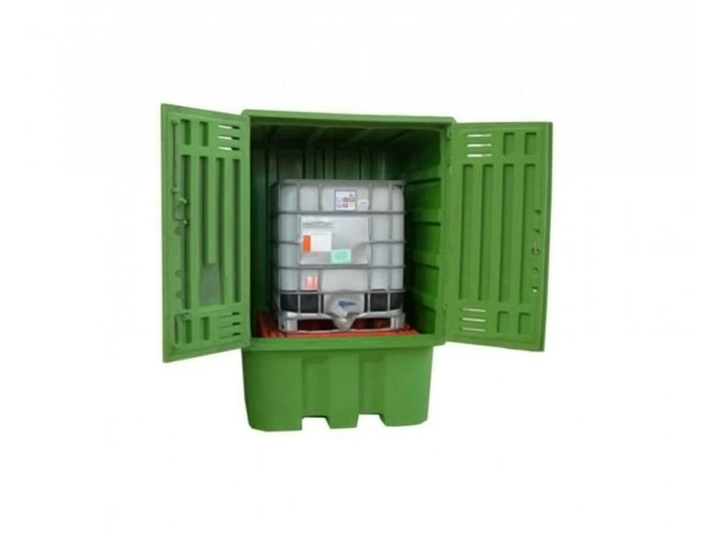 Box con vasca portacisterne in polietilene