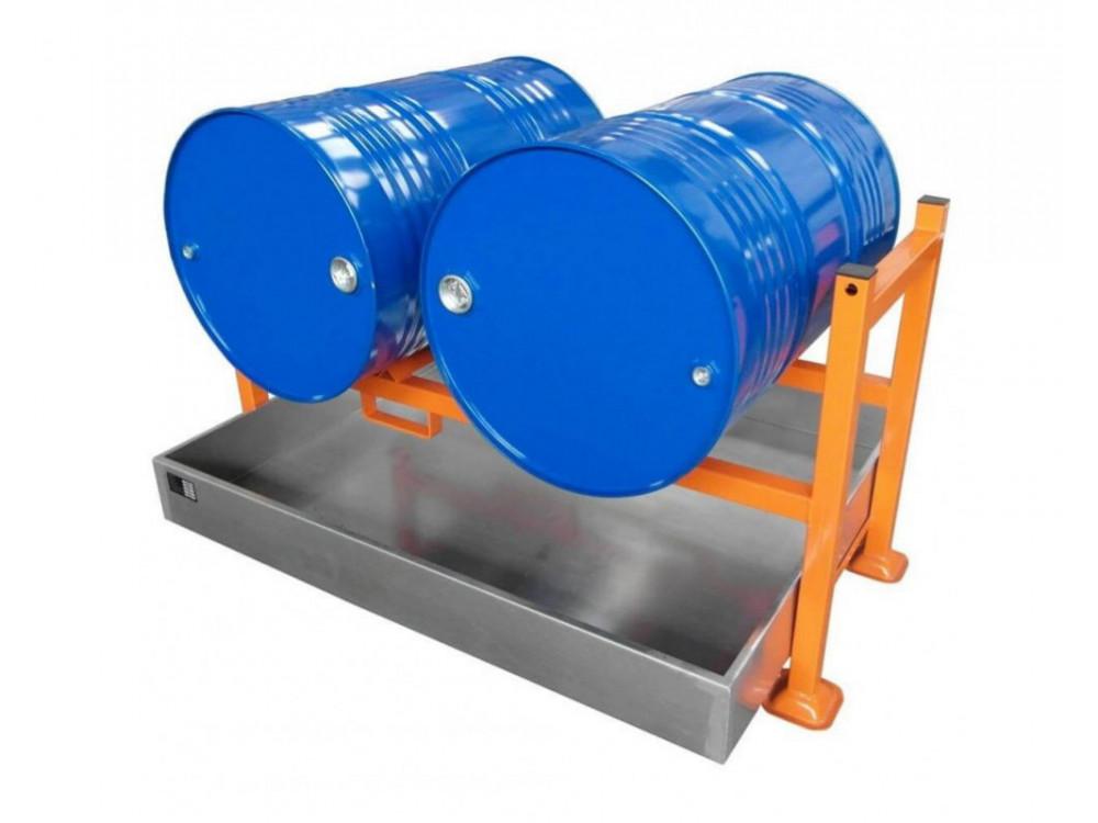 Pedana portafusti sovrapponibile con vasca di raccolta zincata