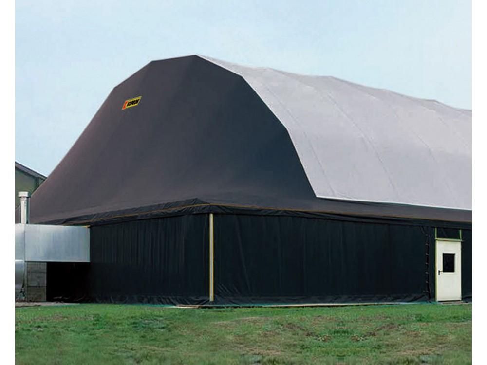 Tunnel in PVC con struttura ad arco