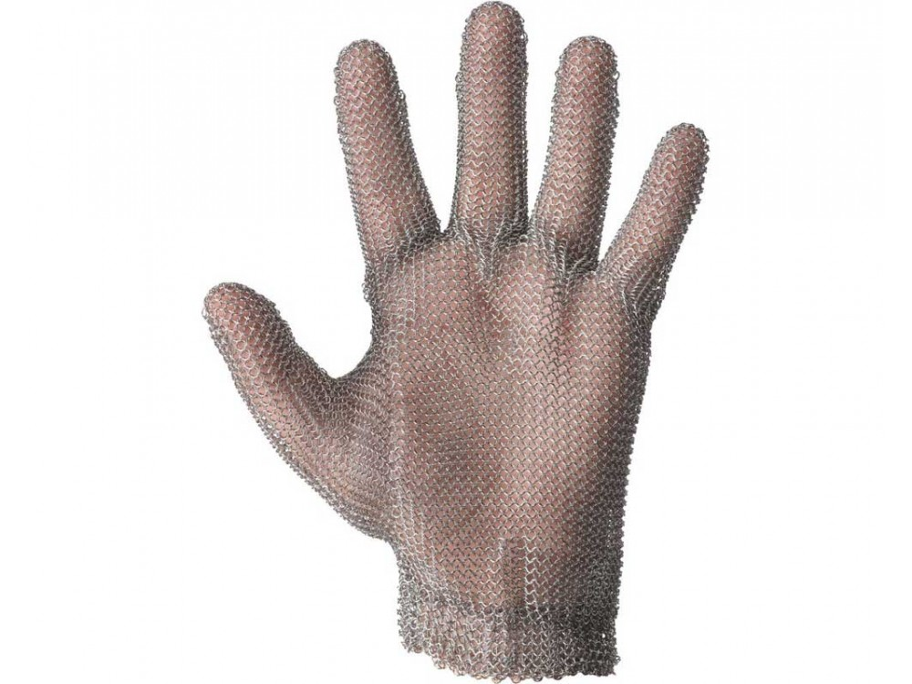 Guanto in maglia d'acciaio antitaglio antiscannamento