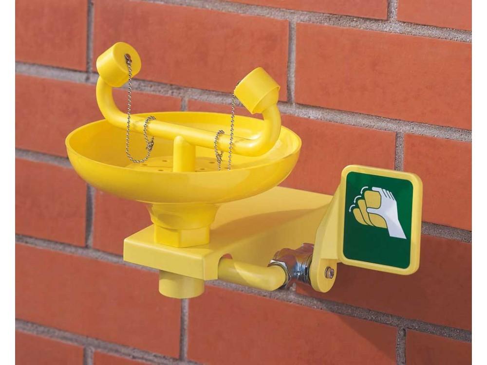 Dispositivo lavaocchi da parete per interventi di emergenza
