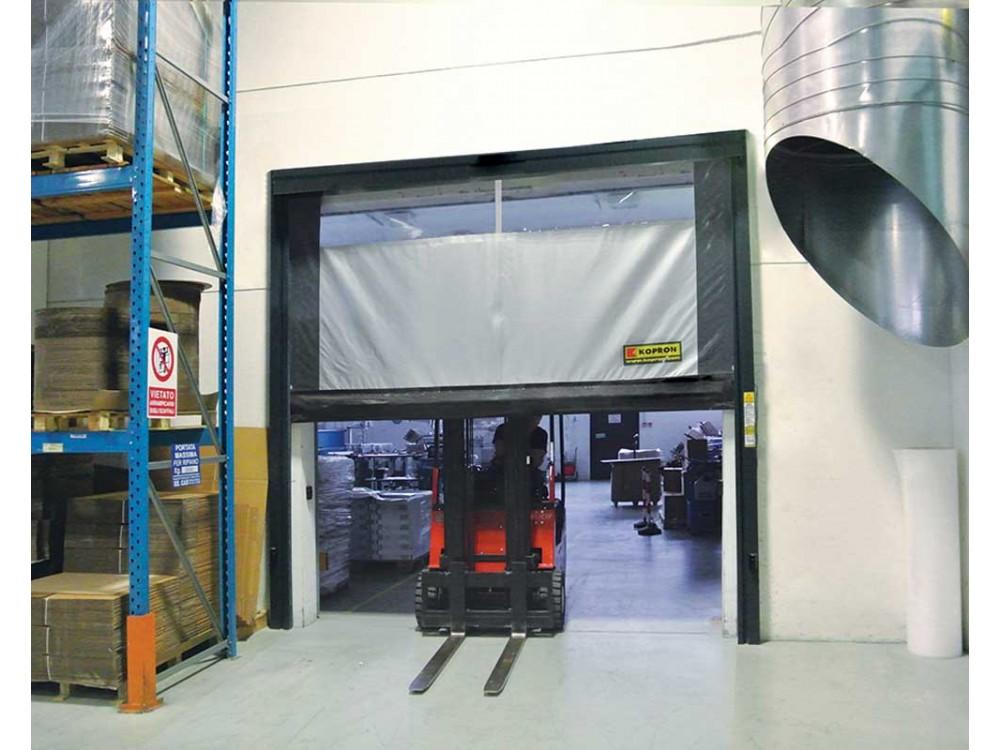 Porta in PVC autoriparante ad avvolgimento rapido