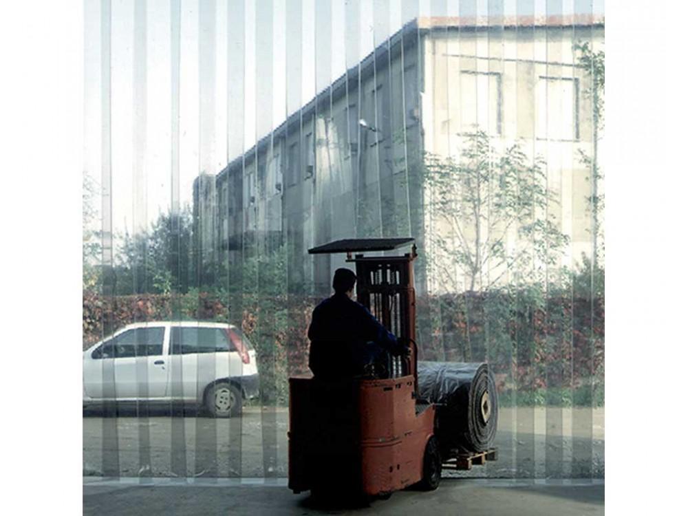 Porte a strisce in PVC trasparente