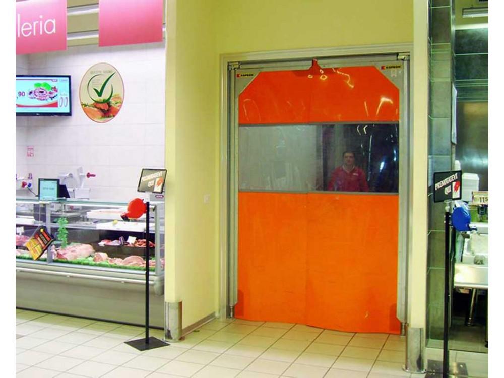 Porte flessibili a battente in PVC