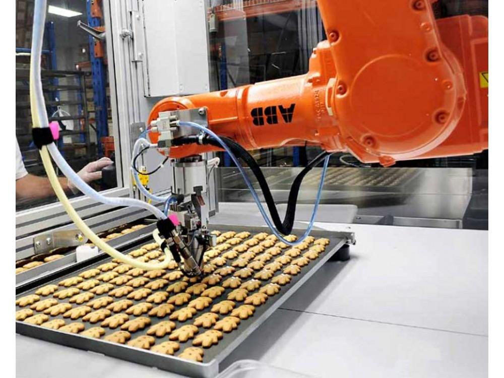 Robot compatto per asservimenti in ambienti igienici