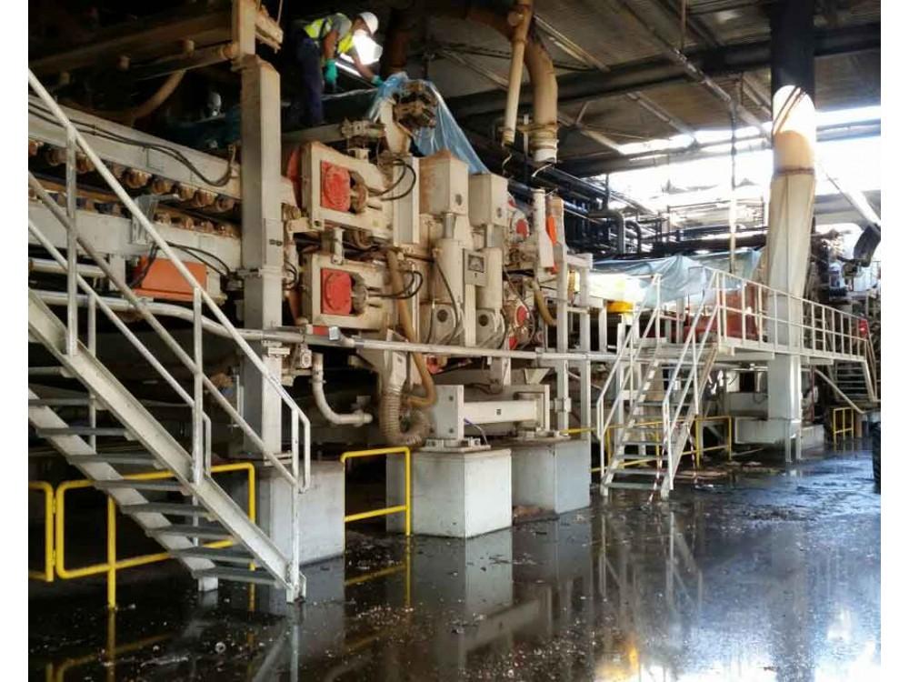 Bonifica di capannoni industriali post-incendio