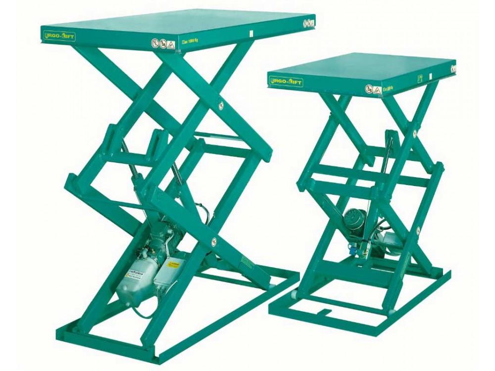Piattaforma elevatrice a doppio pantografo