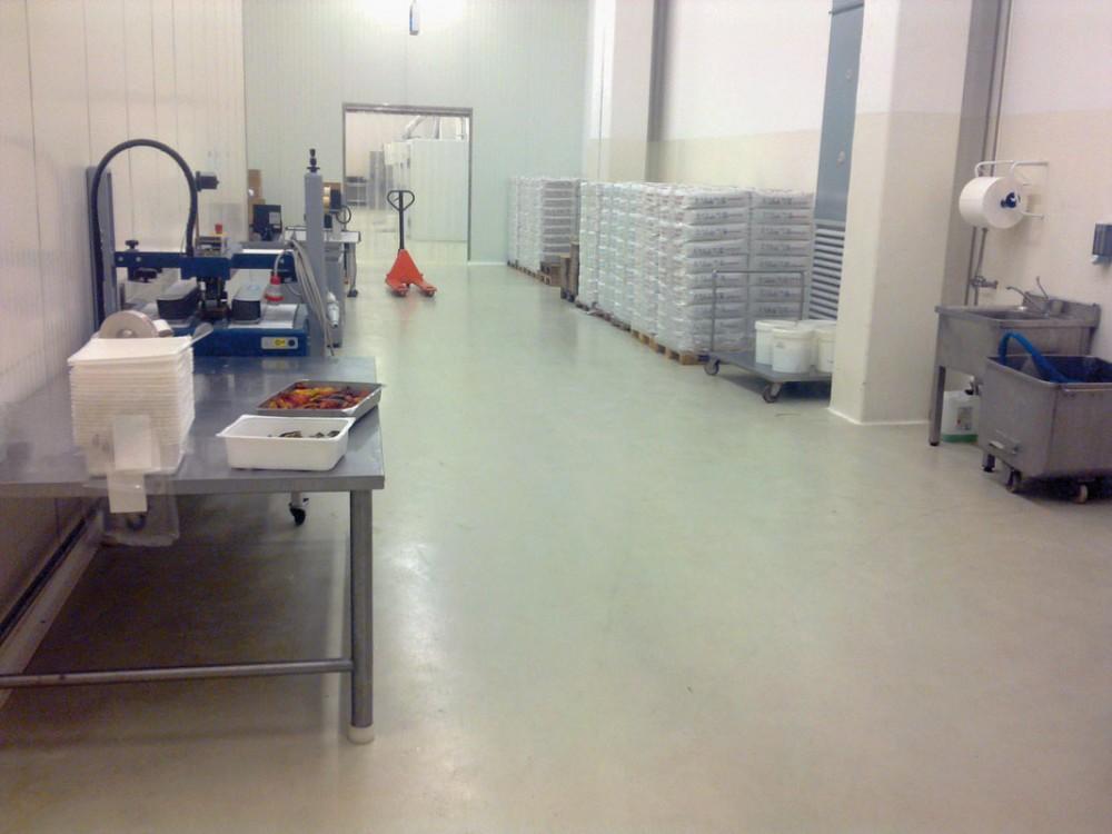 Pavimento alimentare sterilizzabile e antibatterico