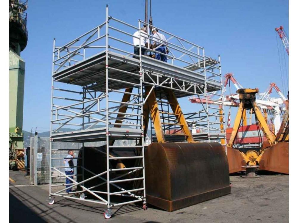 Struttura speciale in lega leggera di alluminio per accessi in quota