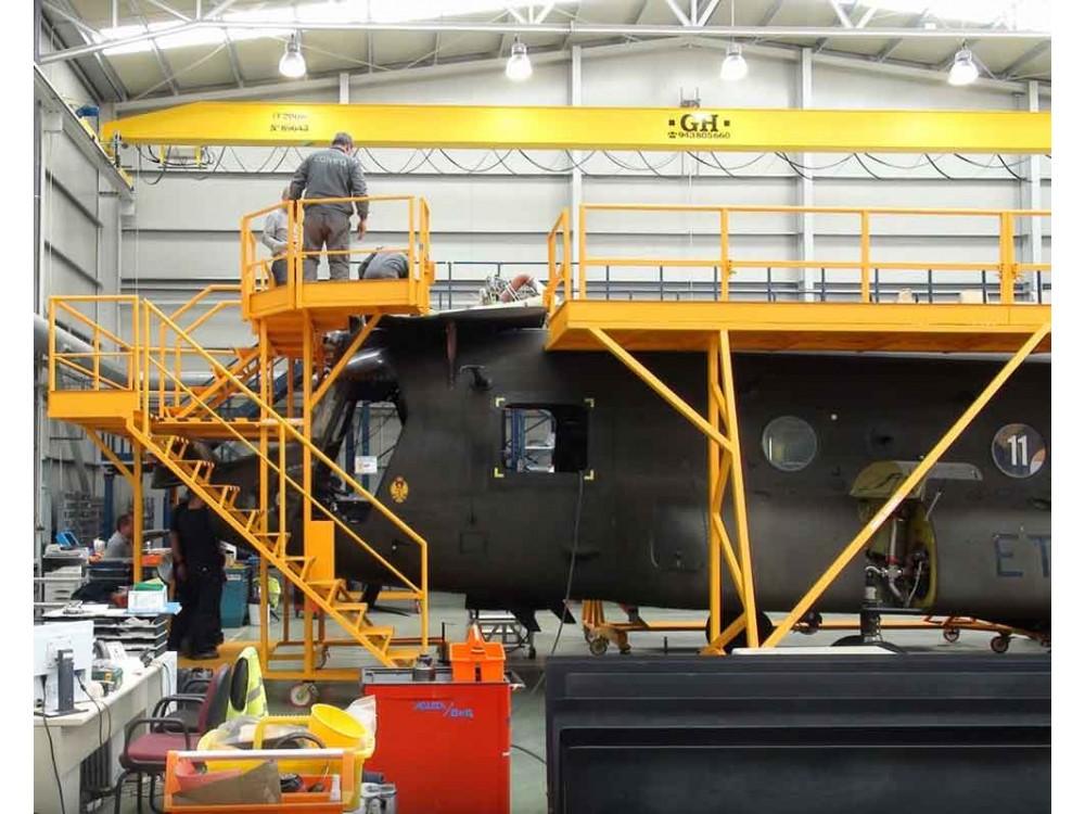 Ponteggio speciale per manutenzione velivoli