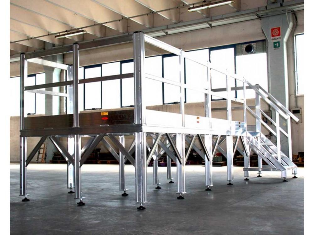 Palco in alluminio per utilizzo industriale