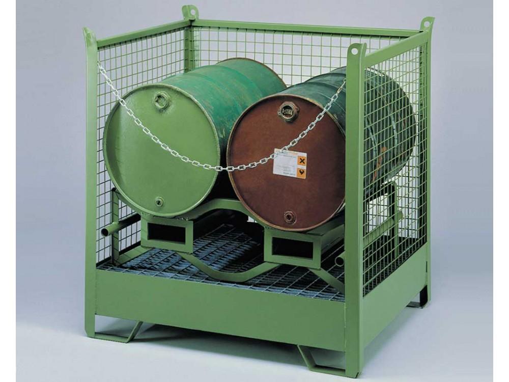 Contenitore portafusti orizzontali con vasca di raccolta