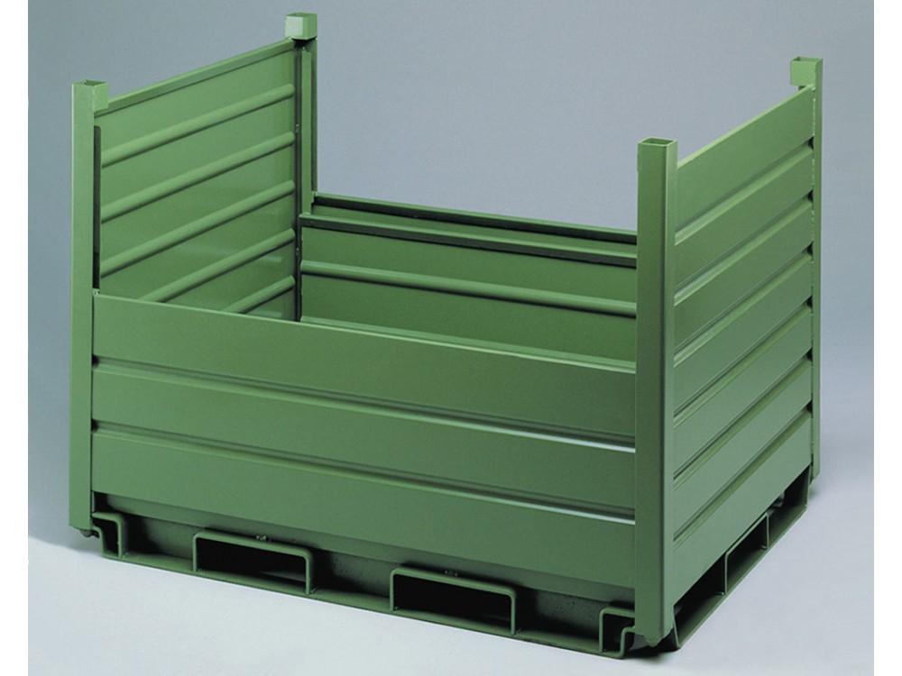 Contenitore metallico con pareti basse
