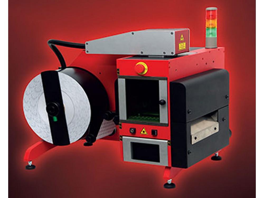 Marcatore laser per etichette indelebili e irremovibili