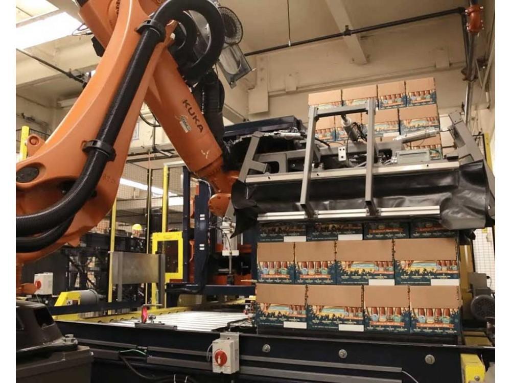 Depallettizzatore robotico per casse