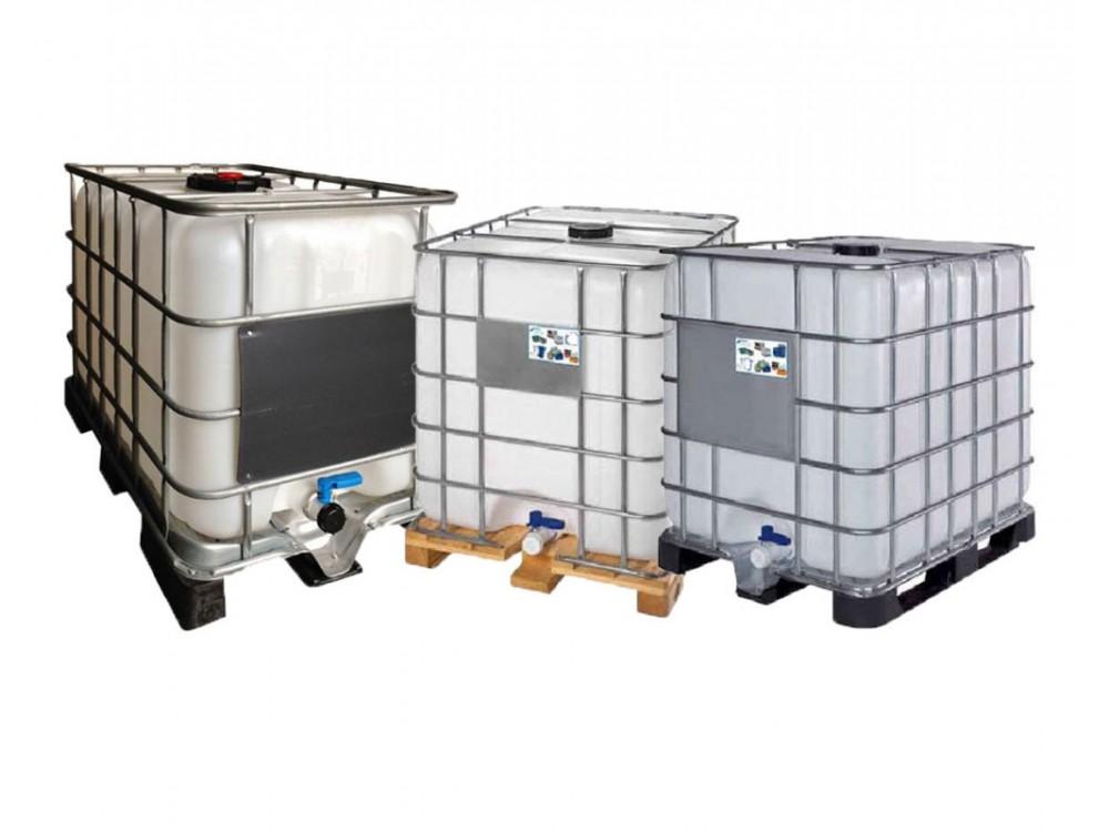 Cisternette IBC in polietilene con gabbie metalliche
