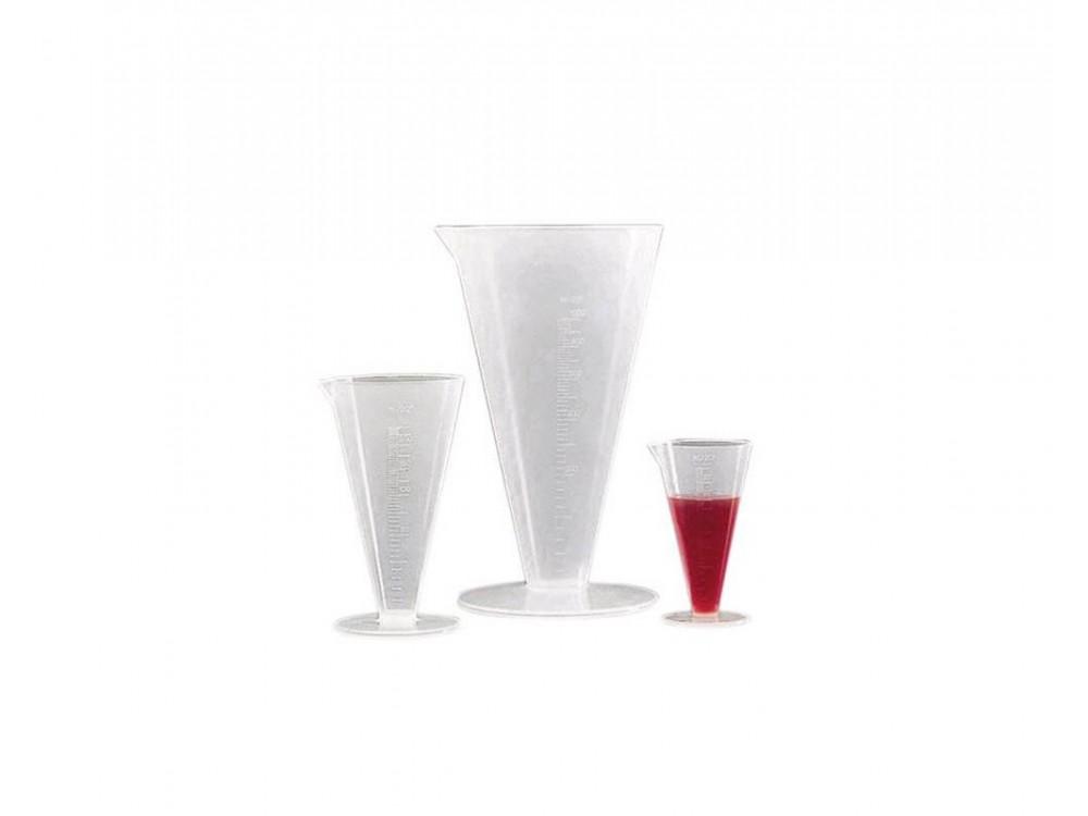 Bicchieri graduati trasparenti