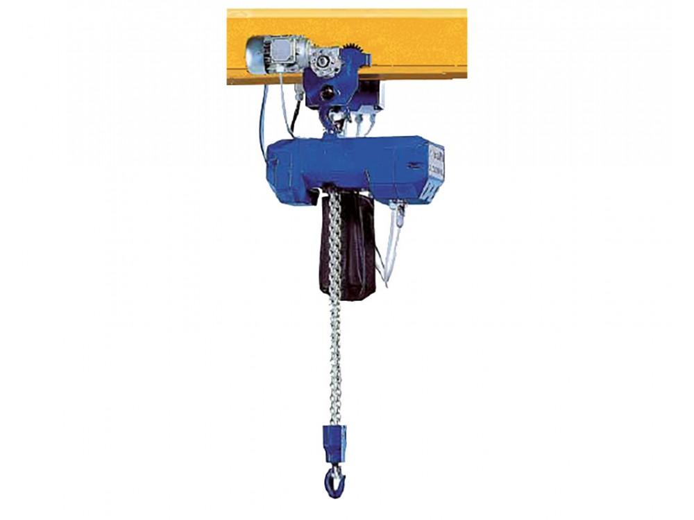 Paranco elettrico a catena con carrello di traslazione