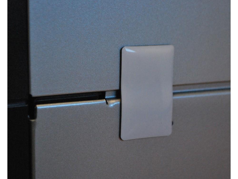 Etichetta Broky Hf e Nfc antieffrazione per superfici metalliche