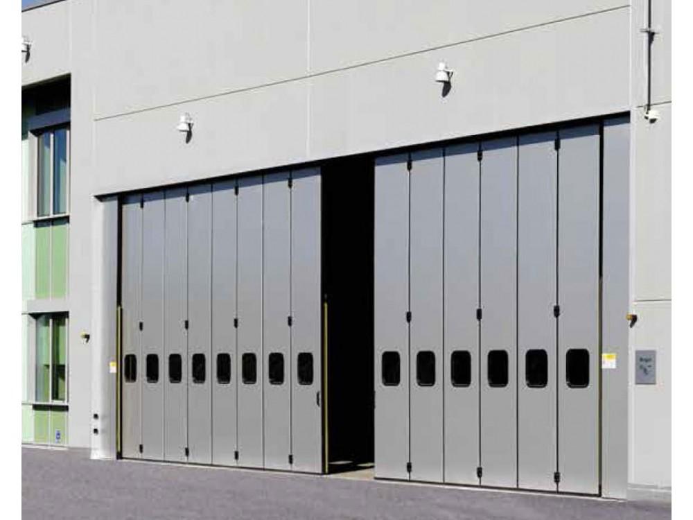 Porte industriali giganti con impacco laterale
