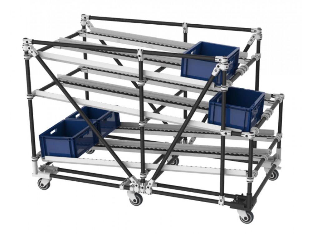 Carrello Flow Rack di produzione