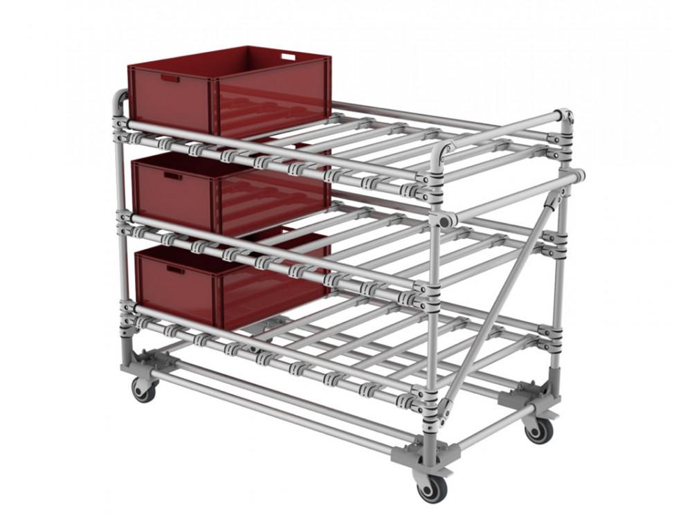 Carrello KLT per trasporto di contenitori