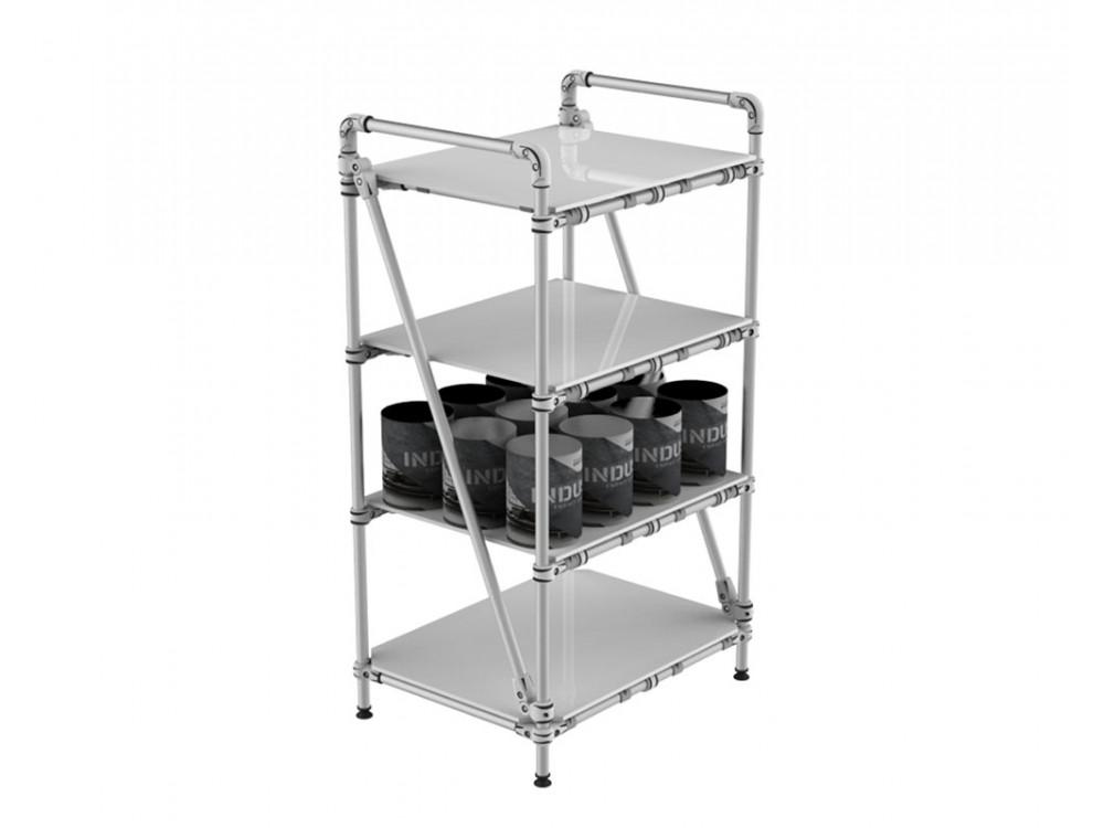 Scaffale modulare in alluminio