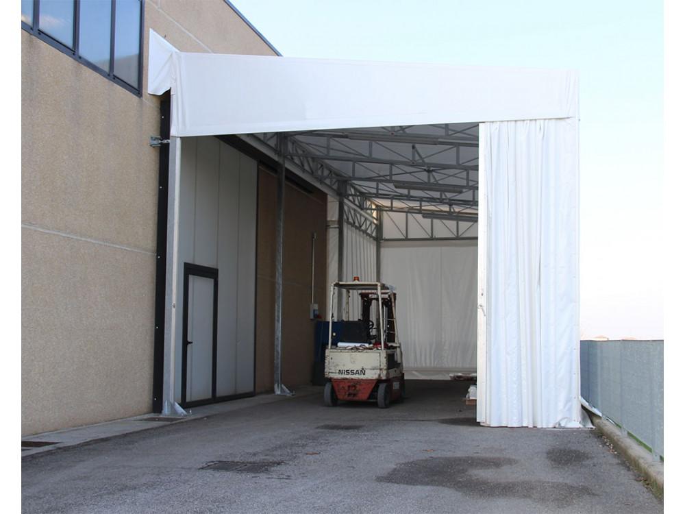 Tunnel monofalda in metallo e PVC