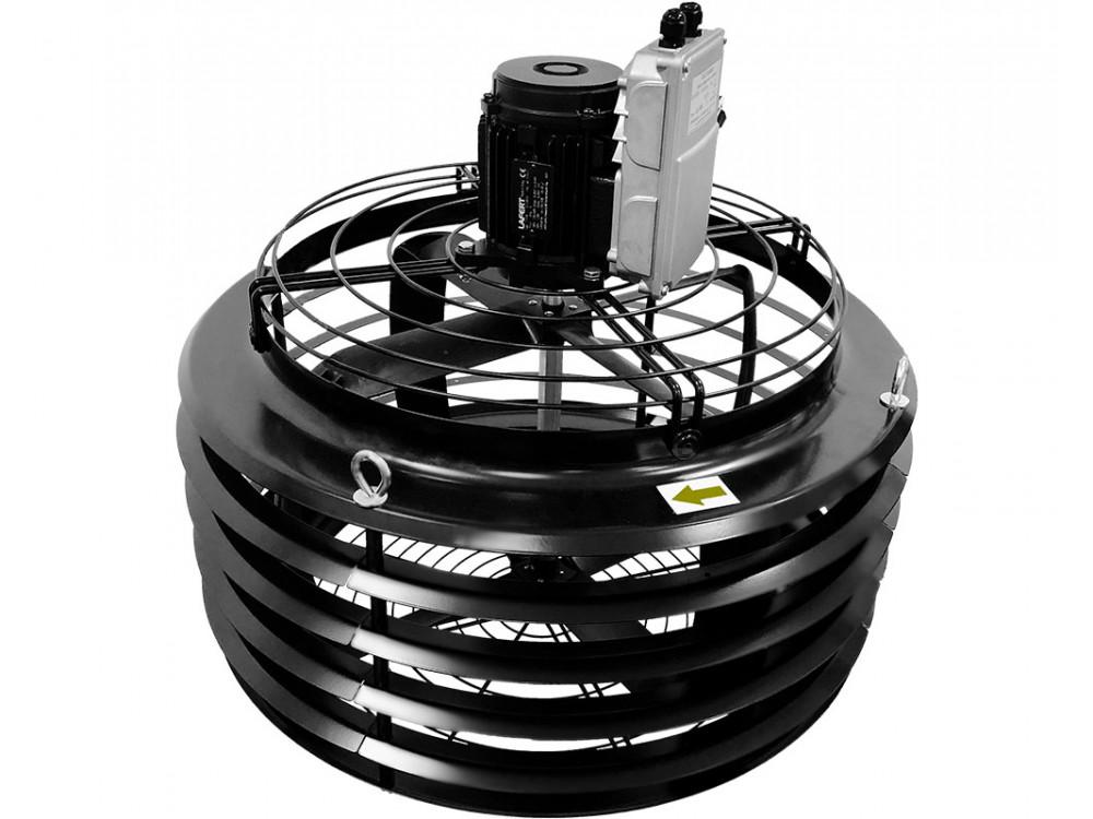Ventilatore per destratificazione di aria in grandi ambienti