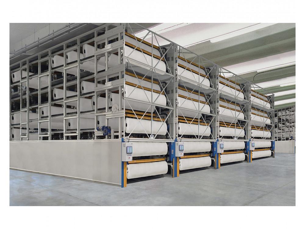 Impianto di stoccaggio per bobine di carta