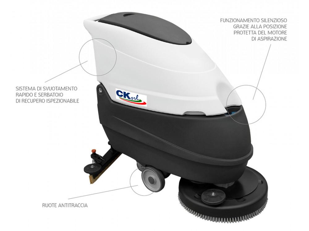Lavasciuga pavimenti CRI 50 BX/BXT con uomo a terra