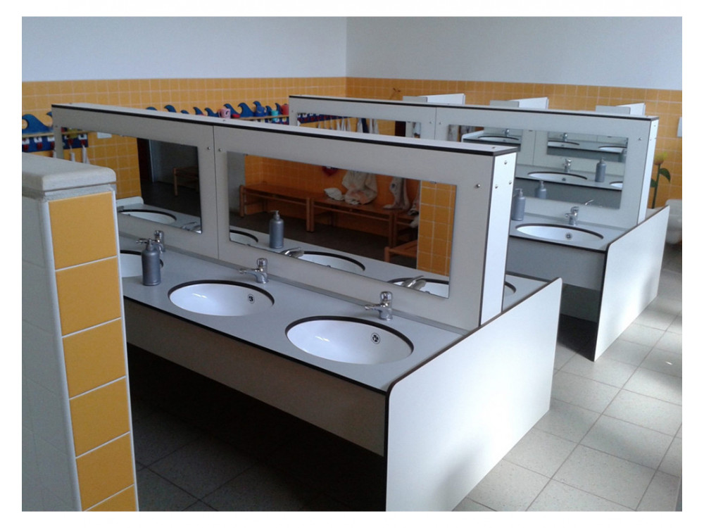 Top lavamani per uso scolastico serie Kinder PLTOP K