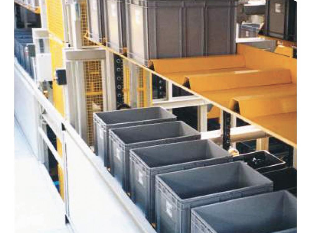 Magazzino verticale per contenitori e scatole colore