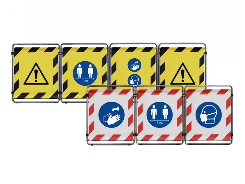 Barriera modulare per corsia ospedaliera