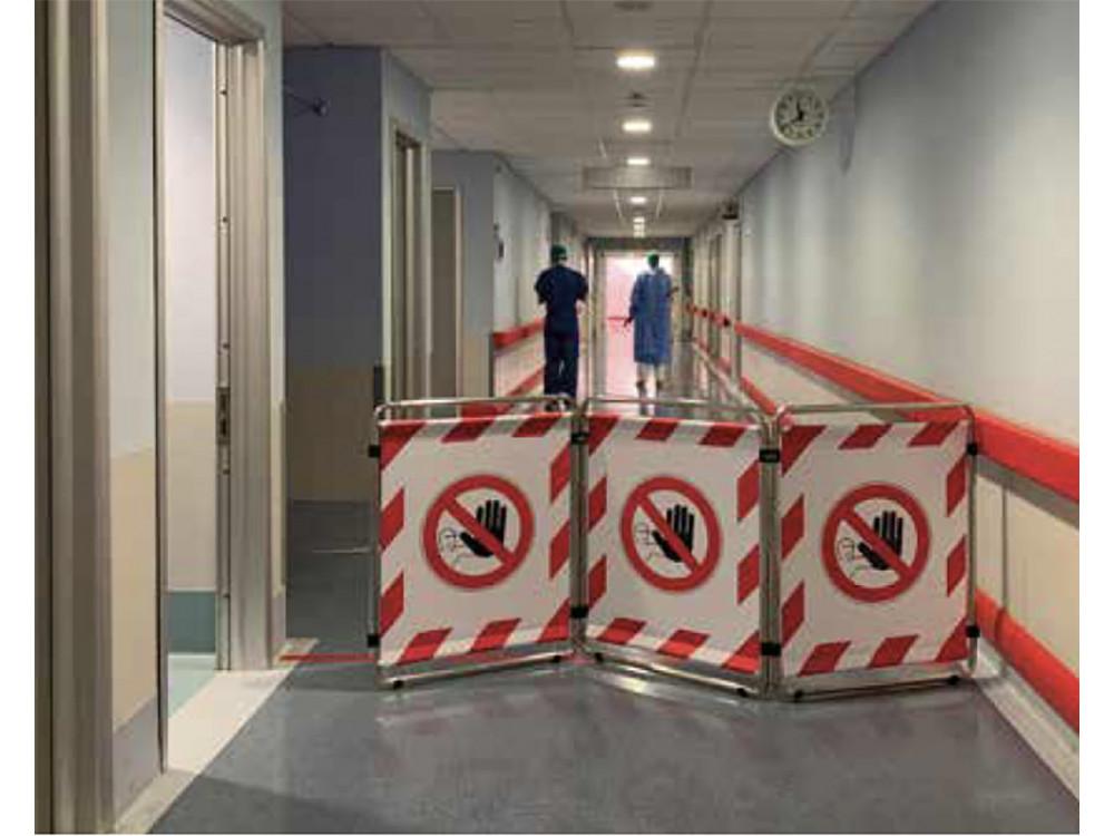 Barriere per regolamentazione transiti in ospedale