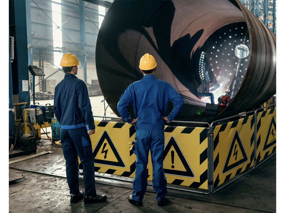 Barriere provvisorie per ambito industriale