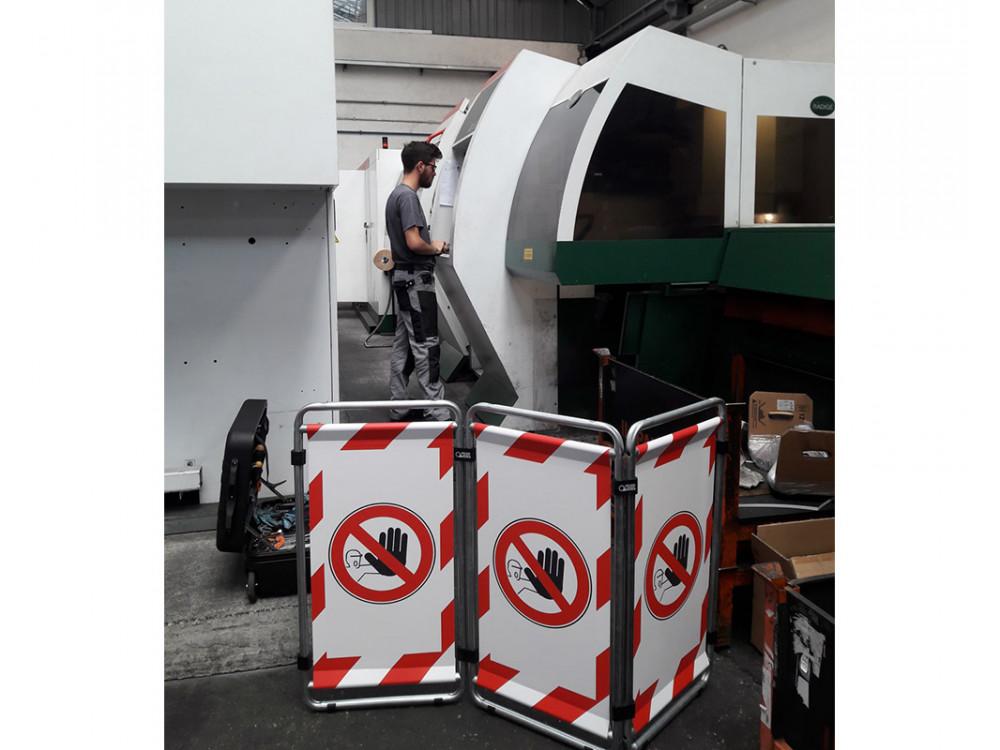 Barriere modulari temporanee per la protezione di macchinari