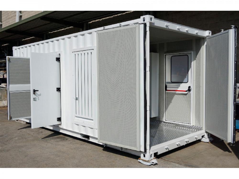 Container multiuso prefabbricato in lamiera