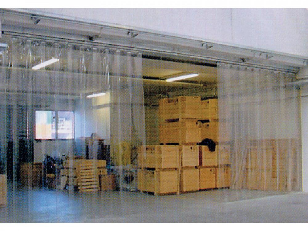 Porte a strisce Openstrip in PVC trasparente